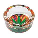 Formax420 Hard Glass Ashtray 420 Leaf Design Cigarette Ashtray Multi Color Send Random 1 PCS