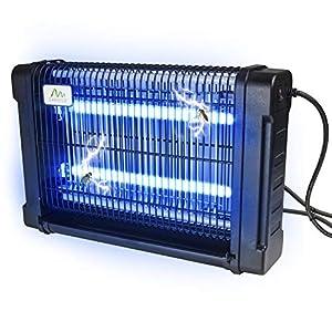 Gardigo 62400 - Zanzariera elettrica interno e esterno; Lampada Insetticida Ammazza zanzare con Luce UV Ultravioletta… 12 spesavip