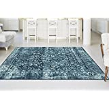 Universal Rugs CNC1014 Concept Transitional Area Rug, 8 by 10-Feet, Blue