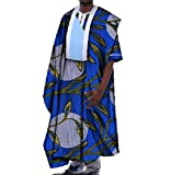 Tootless Mens Batik Gowns Plus Size African Floral Short Sleeve T Shirts 12 2XL