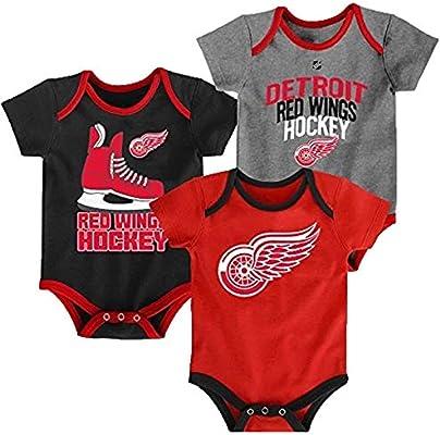 OuterStuff NHL Newborn Infants Five on Three 3 Piece Creeper Bodysuit Set