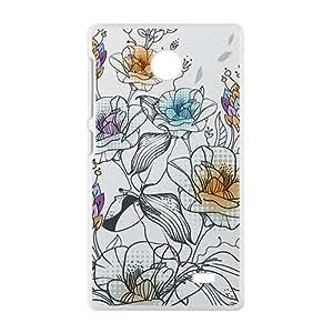 Cartoon Flower Phone Case for Nkia Lumia X
