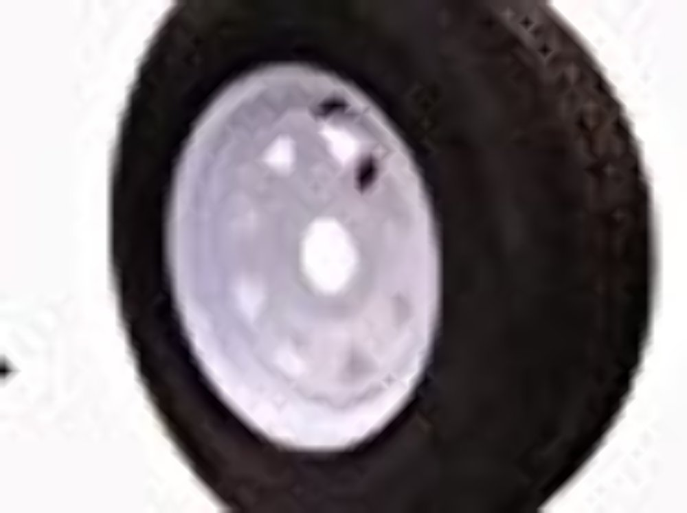 Wheels Express Inc 14'' White Spoke Trailer Wheel with Radial ST215/75R14 Tire Mounted (5x4.5) bolt circle