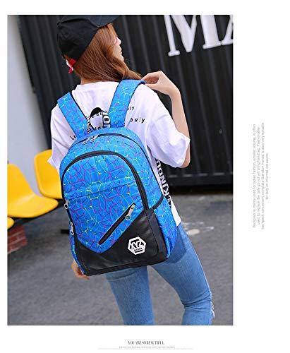 Amazon.com : JJSSGJBB Student backpack 3 pcs/sets Canvas School Bag Fashion School Backpack for Teenagers Girls schoolbags kid backpacks mochila escolar ...