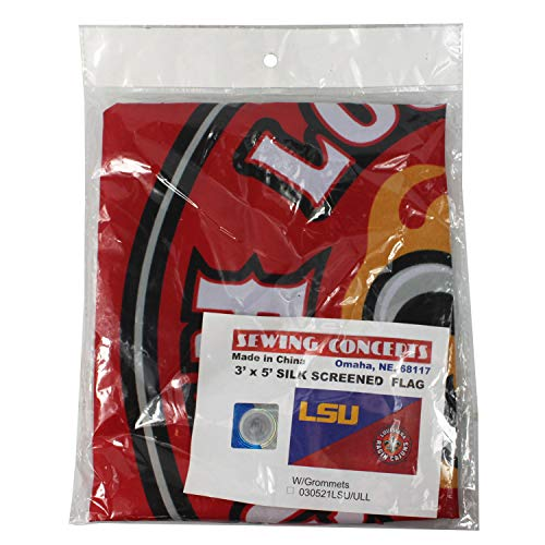 - Asian Zing LSU UL Divided Flag