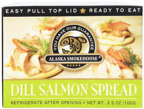 Smoked Salmon Spread - Alaska Smokehouse Dill Salmon Spread Serving  Design, 3.5 Ounce Boxes (Pack of 6)