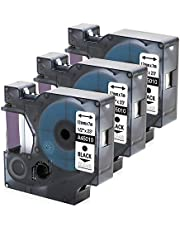 3 Pack Compatible Dymo Black on Clear D1 Label Tape 45010 Label Maker Tape Cassette, for DYMO LabelManager 160, 210D, 450, 280 , 1/2 Inch x 23 Feet