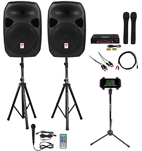 - Rockville Power GIG RPG-122K All In One DJ/PA Package (2) 12