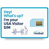 USA Visitor SIM Card by Mobal, Unlimited Data and Texts, No Contract