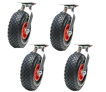 """4-10""""inch 260mm ruedas neumáticas ruedas giratorias ..."""