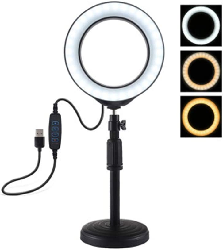 Broadcast Live Photography Fill Light Ring Fill Light with 3 Light Modes /& 10 Brightness Level USB YouTube Video Production Light,12cm