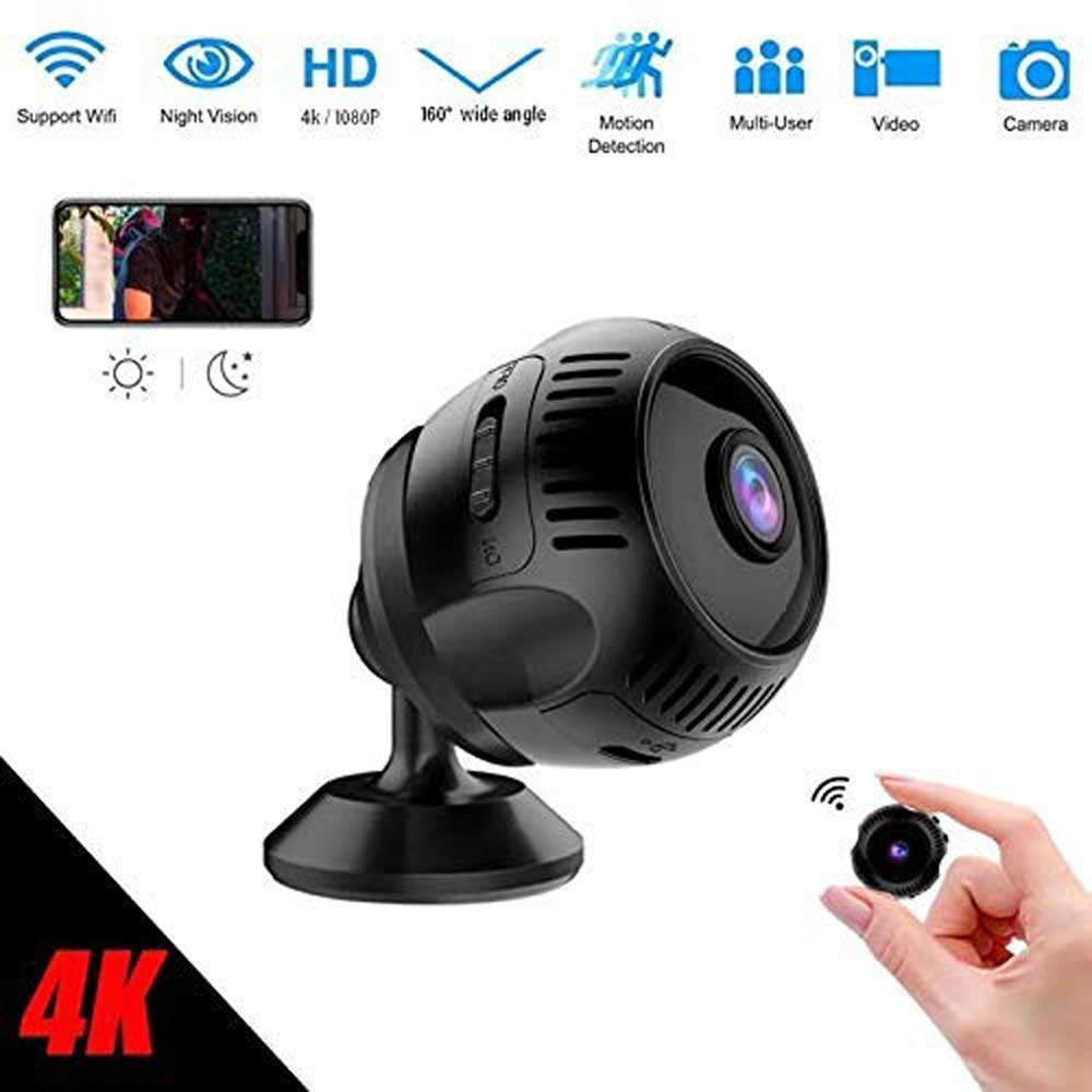 TTAS Spy Camera Wireless, 4K Wireless WiFi Camera Security Home Camera Mini Hidden Camera 1080P Newest HD Strong Magnetic Camera with Night Vision and Motion Detective Pet Monitor, Baby Camera