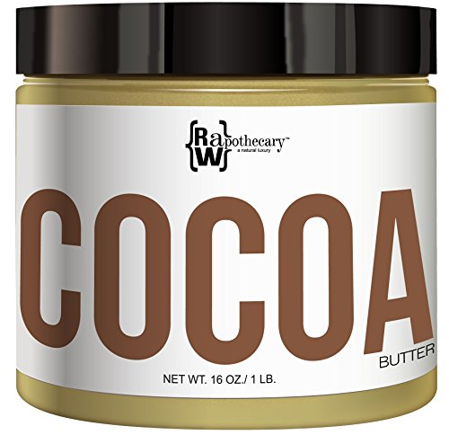 Cocoa Butter, 100% All Natural by Raw Apothecary- Unrefined All-Over Moisturizer, Beauty Remedy, Skin Healing and Aromatherapy (1 Pound)