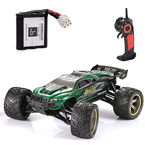 GPTOYS RC Cars S912 33MPH Remote Control Truck 1/12 Scale 2.4GHz 2WD Off-road Waterproof Monster Car-Best Gift for Kids and Adults - Green (3rd Version) (2wd Old Body)