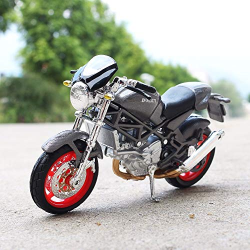 - Greensun 1:18 Scale Ducati Monster S4 Motorbike Race Cars Mini Motorcycle Vehicle Models Office Toys Gifts for Kids