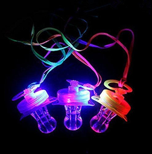 UChic 4PCS Light up Blinking Joke Pacifier Toy LED Pacifier Whistle Suitable for Activities in KTV and Bar Concert Tools for Cheering for Sports Events