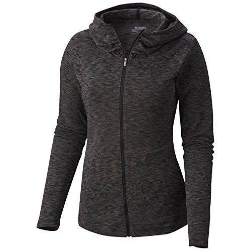 Columbia Women's Plus Size Outerspaced Full Zip Hoodie, Black/Space Dye, 3X