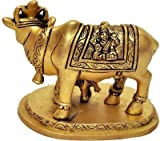 GoldGiftIdeas Brass Cow and Calf Idol / Hindu Religious Kamdhenu Cow / Home Decor, Showpiece / Best for House-Warming and Return Gift