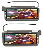 (2) Rockville RPSV12-GR 12.1'' Grey/Gray Car Sun Visor Monitors/High Definition!
