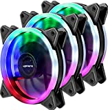 upHere Computer Case Fan 120mm LED Silent Fan for Computer Cases, CPU Coolers,Water