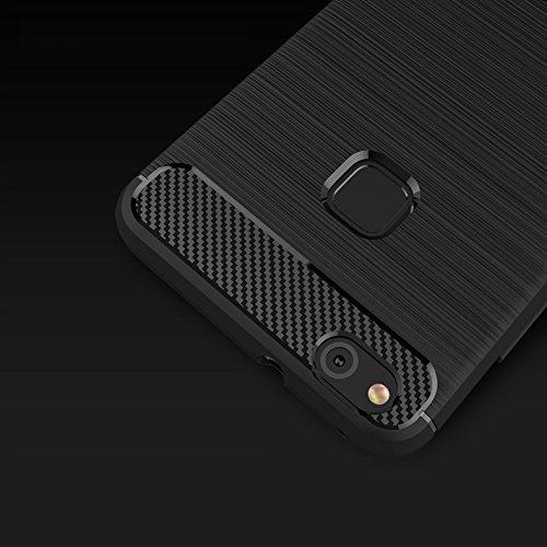 Funda Huawei P10 Lite,TPU Ultra Delgado Soft Gel Slim Armadura Protector Funda Case Para Huawei P10 Lite Funda Carasa Silicona Caucho Azul