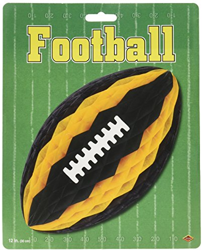 Pkgd Tissue Football w/Laces (black & golden-yellow) Party Accessory  (1 count) (1/Pkg)