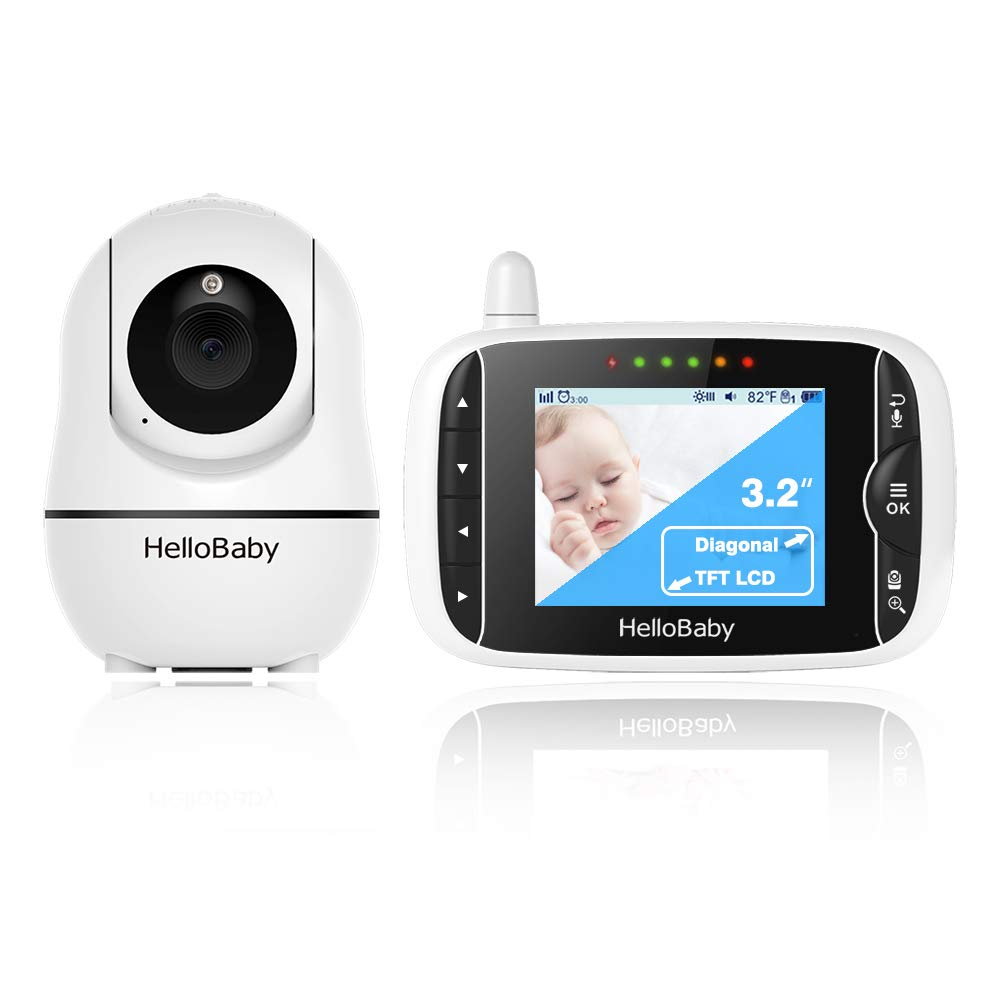 HelloBaby Remote Pan-Tilt-Zoom Baby Monitor