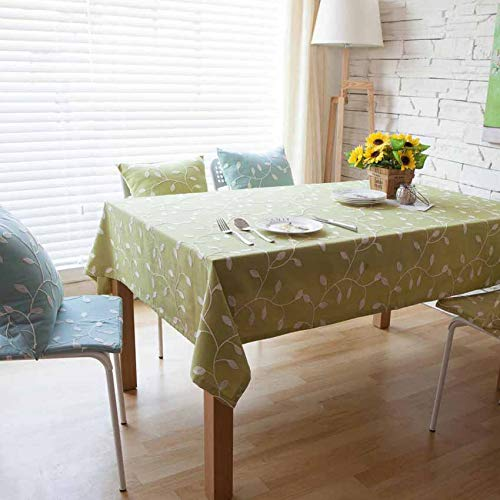 Couleur 2 140x200cm songcloth Nappe Rectangulaire, Nappe Lavable, Corée Pastoral Europe Embroiderouge Leaves Dining Coffee courirner Decor Desk, Kitchen Dining Cafe Picnic Dinner Nappe 140x200cm Couleur 2