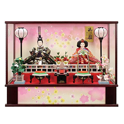 雛人形 親王飾り ケース入り幅62cm [fz-215] ひな人形   B07K81Q3ZG