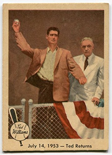 Fleer 1959 Ted Williams 1953 Ted Returns Card #48 Boston Red Sox