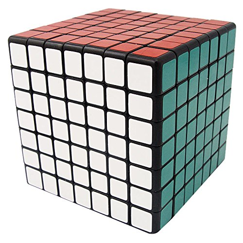 V5-Cube® Shengshou 7x7x7 Functional Spring Structured Square Speed Puzzle Cube,Black