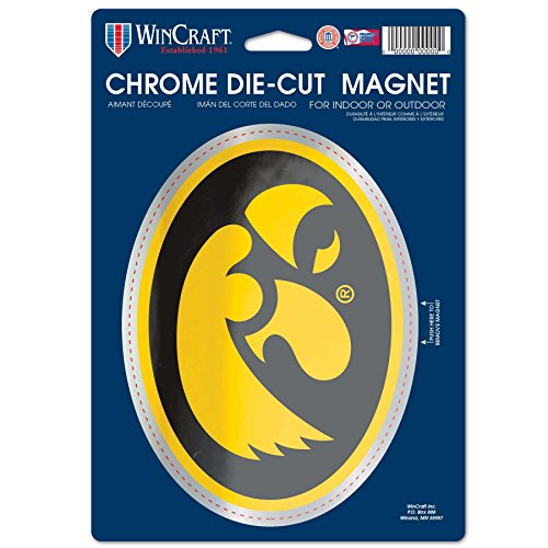 sity of Iowa Chrome Magnet, 6.25 x 9, Black ()