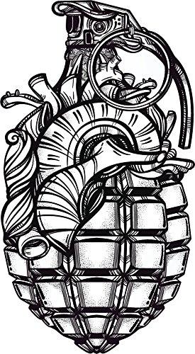 Sketch Hearts (Anatomical Heart Grenade Pen Sketch Vinyl Decal Sticker (4