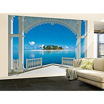 (100x144) A Perfect Day Balcony Huge Wall Mural Art Part 8