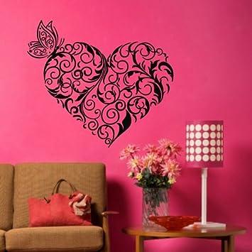 amazon com tgsik diy flower branch love heart wall decals vinyl