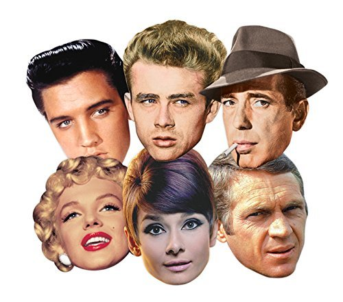 Star Cutouts SMP67 Classic Hollywood Cardboard Mask by Star Cutouts Ltd (Cardboard Cutout Dean compare prices)