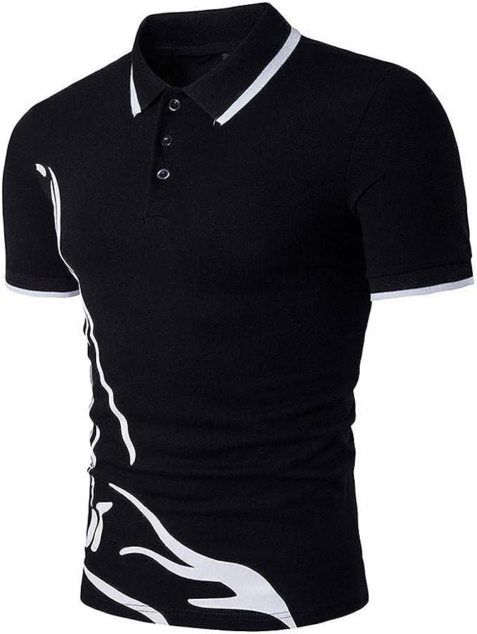 Sasstaids Camiseta Polo para Hombre Hombre Camisas De Manga Corta ...