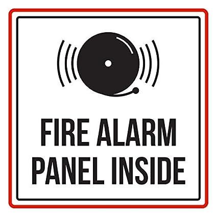 Panel de alarma contra incendios en el interior, rojo negro ...