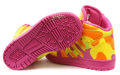 ADIDAS ORIGINALS by JEREMY SCOTT BABY KINDER SCHUHE JS INSTINCT HI NEON CAMO , Schuhgröße:EUR 25;Farbe:Slime