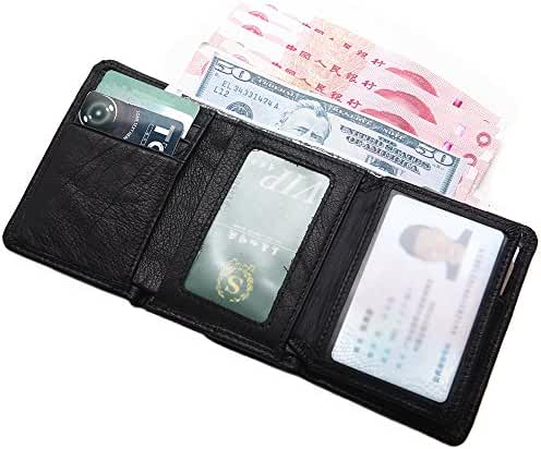Artmi Mens Trifold Wallet RFID Leather Card Holder Compact Purse Extra Capacity