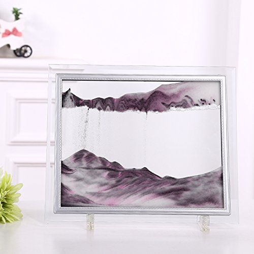 CooCu Moving Sand Art Picture,Sandscapes Art in Motion,Desktop Art Toys(Pink) (M) ()