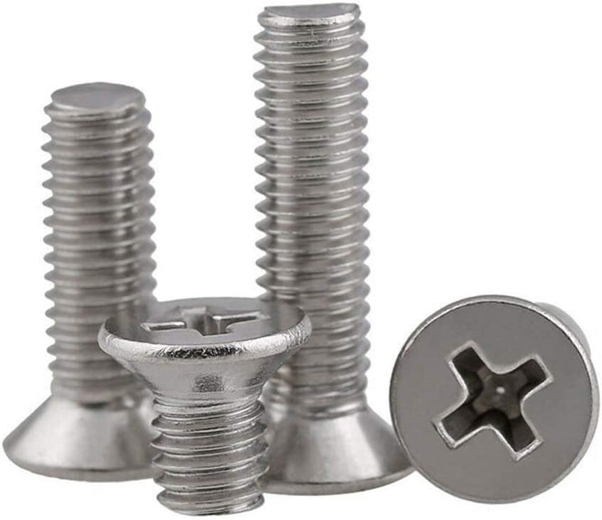 4mm Countersunk Philip Screws A2 Stainless Steel Machine Bolts M450 mm - 4PCS M4
