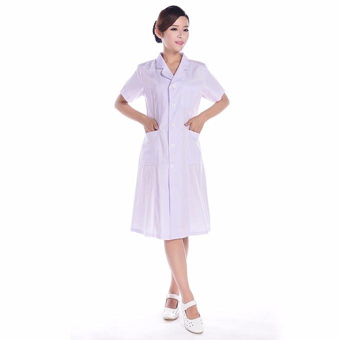 Xuanku Enfermera Enfermeras, Blanco Abrigos, Vestidos, Batas, Comunidad, Salones De Belleza, Enfermeras, Bai Dagua, L, Blanco: Amazon.es: Ropa y accesorios