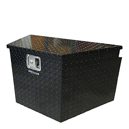 Pit Posse - Aluminum Trailer Tongue Storage Tool Box with Lock for Truck UTV Pick Up - Waterproof - Durable - Versatile - Diamond Rugged Design - Easy to Carry - Snowmobile Trailer Aluminum