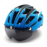 Cycling-Bicycle-Helmet-with-Detachable-Magnetic-Goggles-Visor-Shield-for-Women-Men-Mountain-Road-Bike-Helmets-Adjustable-Adult-Safety-Protection-and-Breathable