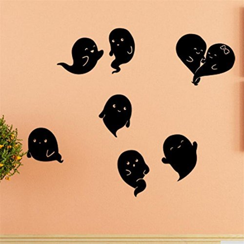 ✿Mose✿ Hot Sale !!! Halloween Household Room Wall Sticker,Devil Decor Decal Removable (C, black)