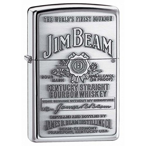 (Personalized Message Engraved Customized Jim Beam Zippo Lighter Indoor Outdoor Windproof Lighter (Style4))