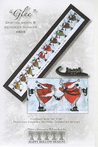 Happy Hollow Designs Glee Skating Santa & Reindeer Runner Pattern