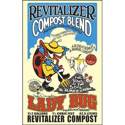 Organic Mushroom Compost (Lady Bug Revitalizer Compost Blend 1.5 Cu. Ft.)