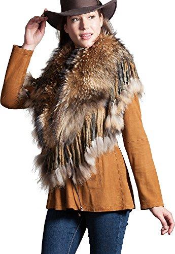 Raccoon Fur Shawl Collar by Overland Sheepskin Co
